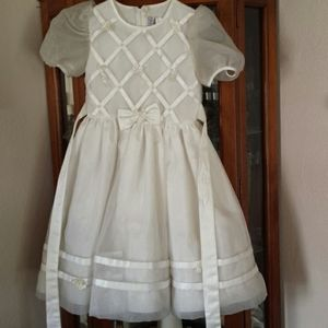 First communion dress with veil